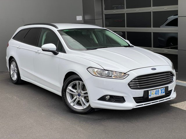 Used Ford Mondeo MD Ambiente Hobart, 2015 Ford Mondeo MD Ambiente White 6 Speed Sports Automatic Wagon