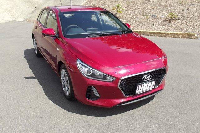 Used Hyundai i30 PD MY18 Go South Gladstone, 2018 Hyundai i30 PD MY18 Go Red 6 Speed Sports Automatic Hatchback