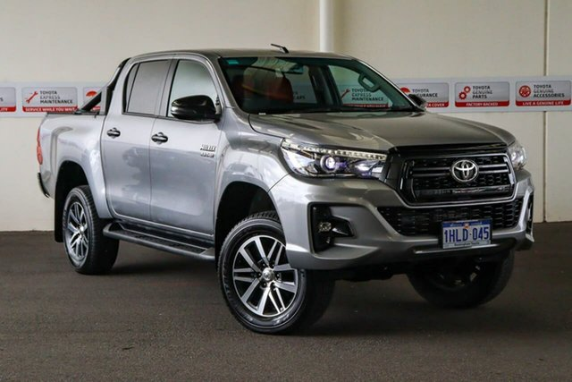 Pre-Owned Toyota Hilux GUN126R SR5 Double Cab Rockingham, 2019 Toyota Hilux GUN126R SR5 Double Cab Silver Sky 6 Speed Sports Automatic Utility