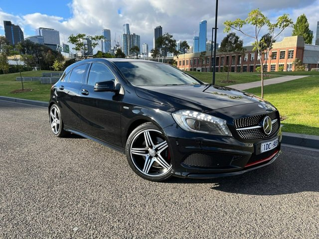 Used Mercedes-Benz A-Class W176 805+055MY A250 D-CT Sport South Melbourne, 2015 Mercedes-Benz A-Class W176 805+055MY A250 D-CT Sport Black 7 Speed Sports Automatic Dual Clutch