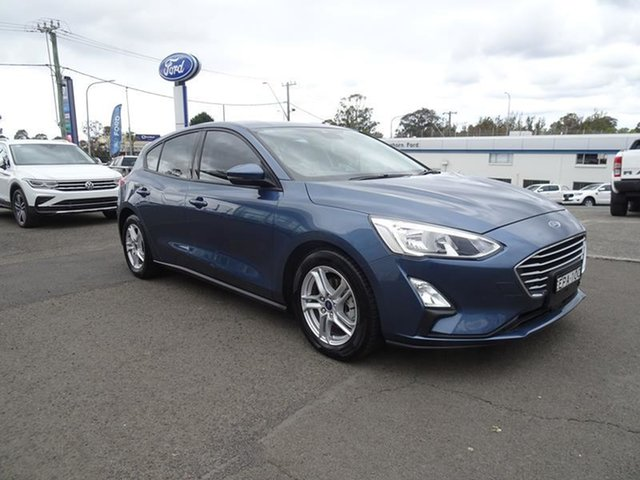 Used Ford Focus SA 2019.75MY Trend Nowra, 2019 Ford Focus SA 2019.75MY Trend Blue Metallic 8 Speed Automatic Hatchback