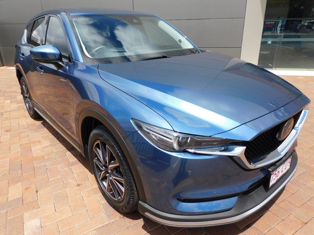 Used Mazda CX-5 KF4WLA Akera SKYACTIV-Drive i-ACTIV AWD Toowoomba, 2017 Mazda CX-5 KF4WLA Akera SKYACTIV-Drive i-ACTIV AWD Blue 6 Speed Sports Automatic Wagon