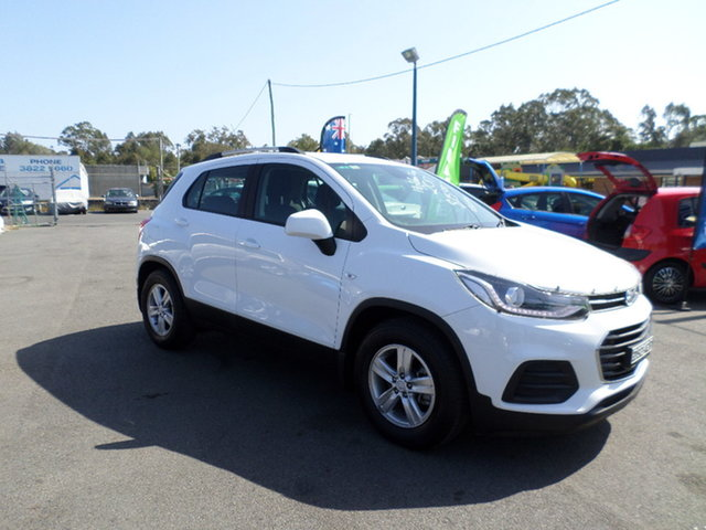 Used Holden Trax Capalaba, 2017 Holden Trax LS Turbo White Automatic Wagon