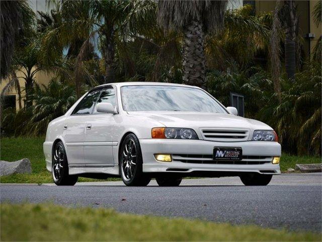 Used Toyota Chaser JZX100 Tourer V Braeside, 1997 Toyota Chaser JZX100 Tourer V White 4 Speed Automatic Sedan