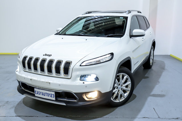 Used Jeep Cherokee KL MY16 Limited Canning Vale, 2016 Jeep Cherokee KL MY16 Limited White 9 Speed Sports Automatic Wagon