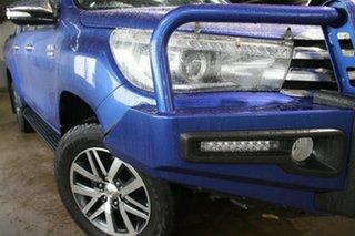 2017 Toyota Hilux GUN126R SR5 (4x4) Nebula Blue 6 Speed Manual Dual Cab Utility.