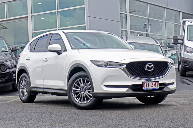 Used Mazda CX-5 KF4WLA Touring SKYACTIV-Drive i-ACTIV AWD Springwood, 2017 Mazda CX-5 KF4WLA Touring SKYACTIV-Drive i-ACTIV AWD White 6 Speed Sports Automatic Wagon