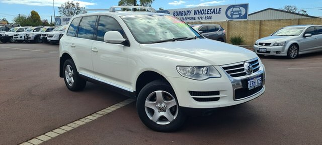 Used Volkswagen Touareg 7L MY08 R5 TDI 4XMOTION East Bunbury, 2008 Volkswagen Touareg 7L MY08 R5 TDI 4XMOTION White 6 Speed Sports Automatic Wagon