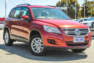 2009 Volkswagen Tiguan 5N MY09 125TSI 4MOTION Red 6 Speed Sports Automatic Wagon.