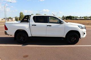 2018 Toyota Hilux GUN126R Rogue Double Cab Glacier White 6 Speed Sports Automatic Utility.