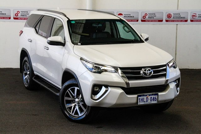Pre-Owned Toyota Fortuner GUN156R MY19 Crusade Myaree, 2018 Toyota Fortuner GUN156R MY19 Crusade Crystal Pearl 6 Speed Automatic Wagon