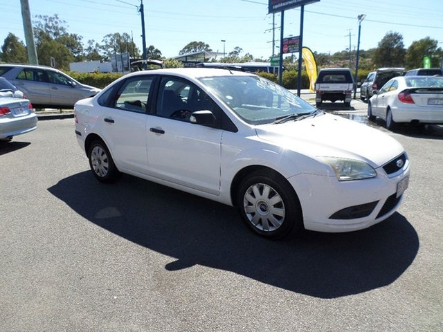 Used Ford Focus Capalaba, 2008 Ford Focus CL LT White Automatic Sedan