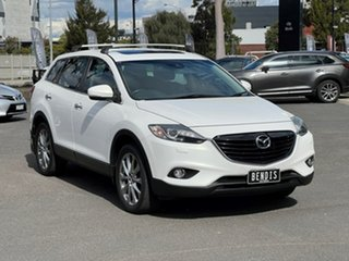2013 Mazda CX-9 TB10A5 Grand Touring Activematic AWD Crystal White Pearl 6 Speed Sports Automatic.