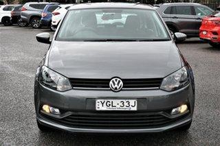 2017 Volkswagen Polo 6R MY17 66TSI DSG Trendline Grey 7 Speed Sports Automatic Dual Clutch Hatchback.