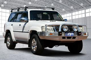2007 Nissan Patrol GU IV MY06 ST White 4 Speed Automatic Wagon.