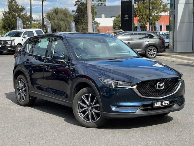 Used Mazda CX-5 KF4WLA GT SKYACTIV-Drive i-ACTIV AWD South Melbourne, 2018 Mazda CX-5 KF4WLA GT SKYACTIV-Drive i-ACTIV AWD Deep Crystal Blue 6 Speed Sports Automatic