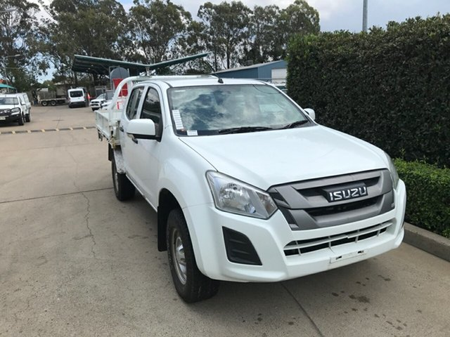 Used Isuzu D-MAX MY17 SX Crew Cab 4x2 High Ride Acacia Ridge, 2017 Isuzu D-MAX MY17 SX Crew Cab 4x2 High Ride White 6 speed Automatic Cab Chassis