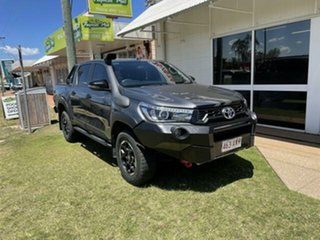 2018 Toyota Hilux GUN126R MY19 Rugged X (4x4) Graphite 6 Speed Automatic Double Cab Pick Up