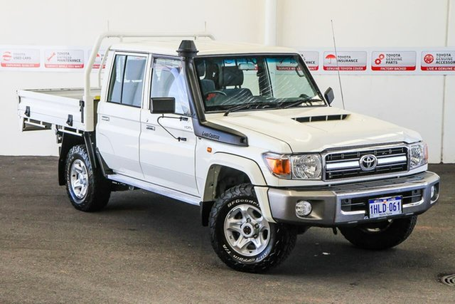 Pre-Owned Toyota Landcruiser VDJ79R GXL Double Cab Myaree, 2020 Toyota Landcruiser VDJ79R GXL Double Cab French Vanilla 5 Speed Manual Cab Chassis