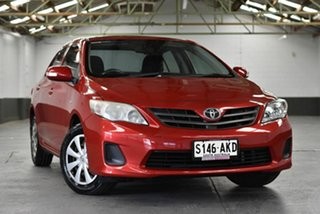 2010 Toyota Corolla ZRE152R Ascent Red 4 Speed Automatic Sedan.
