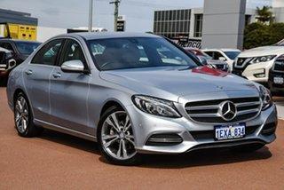 2015 Mercedes-Benz C-Class W205 C200 7G-Tronic + Silver Or Chrome/bone 7 Speed Sports Automatic.