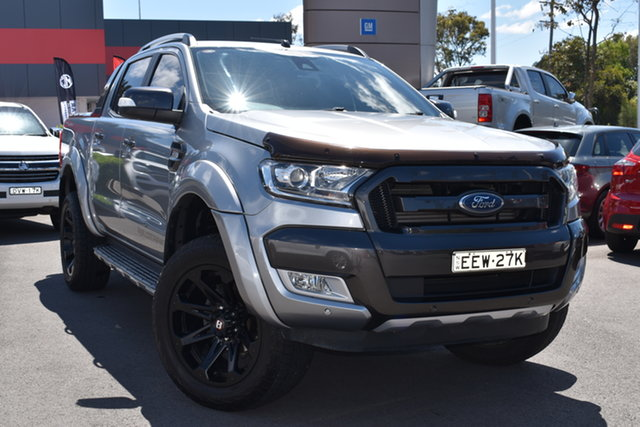 Used Ford Ranger PX MkII Wildtrak Double Cab Tuggerah, 2016 Ford Ranger PX MkII Wildtrak Double Cab Silver 6 Speed Sports Automatic Utility