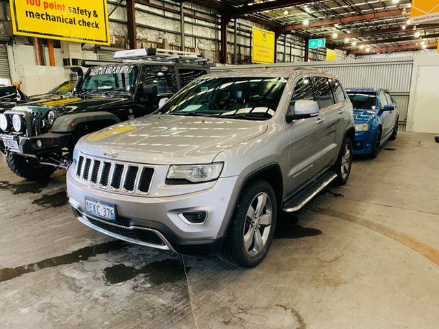 Used Jeep Grand Cherokee WK MY2014 Limited Canning Vale, 2014 Jeep Grand Cherokee WK MY2014 Limited Silver 8 Speed Sports Automatic Wagon