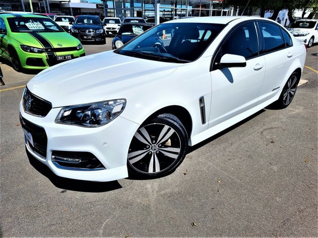 Used Holden Commodore VF MY15 SV6 Storm Seaford, 2015 Holden Commodore VF MY15 SV6 Storm White 6 Speed Sports Automatic Sedan