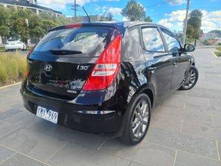 2011 Hyundai i30 FD MY11 SX Black 6 Speed Manual Hatchback