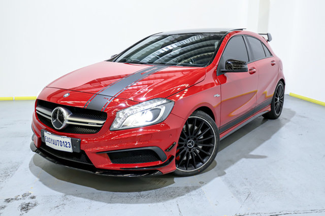 Used Mercedes-Benz A-Class W176 805+055MY A45 AMG SPEEDSHIFT DCT 4MATIC Canning Vale, 2015 Mercedes-Benz A-Class W176 805+055MY A45 AMG SPEEDSHIFT DCT 4MATIC Red 7 Speed