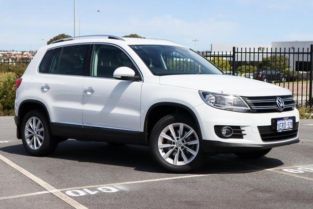 Used Volkswagen Tiguan 5N MY15 132TSI DSG 4MOTION Wangara, 2015 Volkswagen Tiguan 5N MY15 132TSI DSG 4MOTION White 7 Speed Sports Automatic Dual Clutch Wagon