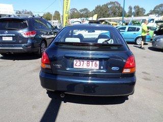 1998 Ford Laser Blue Automatic Hatchback.