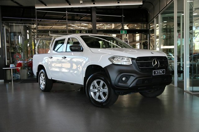 Used Mercedes-Benz X-Class 470 X250d 4MATIC Pure North Melbourne, 2018 Mercedes-Benz X-Class 470 X250d 4MATIC Pure White 7 Speed Sports Automatic Utility
