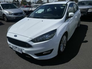 2016 Ford Focus LZ Sport White 6 Speed Automatic Hatchback.