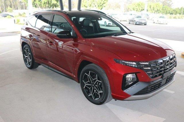 New Hyundai Tucson NX4.V1 MY22 Highlander D-CT AWD N Line Augustine Heights, 2021 Hyundai Tucson NX4.V1 MY22 Highlander D-CT AWD N Line Crimson Red 7 Speed