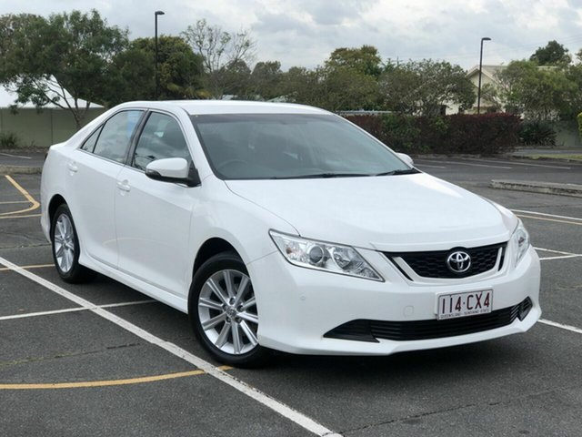 Used Toyota Aurion GSV50R AT-X Chermside, 2016 Toyota Aurion GSV50R AT-X White 6 Speed Sports Automatic Sedan