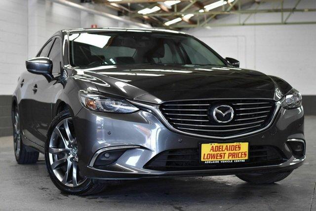Used Mazda 6 GL1031 GT SKYACTIV-Drive Morphett Vale, 2017 Mazda 6 GL1031 GT SKYACTIV-Drive Grey 6 Speed Sports Automatic Sedan