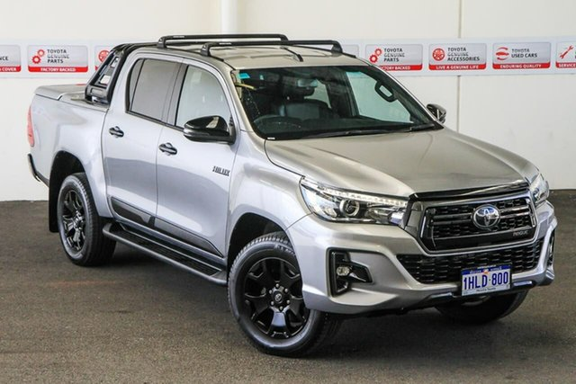 Pre-Owned Toyota Hilux GUN126R Rogue Double Cab Myaree, 2019 Toyota Hilux GUN126R Rogue Double Cab Silver Sky 6 Speed Sports Automatic Utility