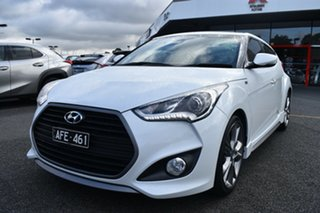 2015 Hyundai Veloster FS4 Series II SR Coupe D-CT Turbo White 7 Speed Sports Automatic Dual Clutch.