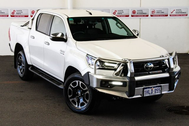 Pre-Owned Toyota Hilux GUN126R SR5 Double Cab Myaree, 2020 Toyota Hilux GUN126R SR5 Double Cab Crystal Pearl 6 Speed Sports Automatic Utility