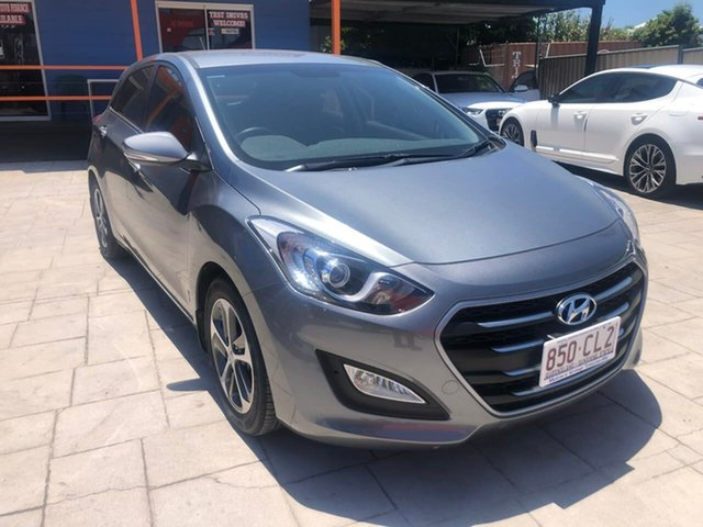 Used Hyundai i30 GD4 Series II MY17 Active X DCT Mundingburra, 2016 Hyundai i30 GD4 Series II MY17 Active X DCT Silver 7 Speed Sports Automatic Dual Clutch