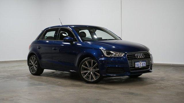 Used Audi A1 8X MY17 Sportback S Tronic Welshpool, 2017 Audi A1 8X MY17 Sportback S Tronic Scuba Blue 7 Speed Sports Automatic Dual Clutch Hatchback