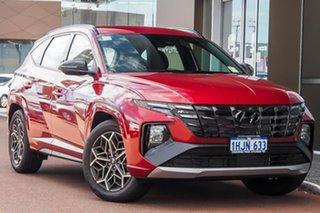 2021 Hyundai Tucson NX4.V1 MY22 2WD N Line Crimson Red 6 Speed Automatic Wagon.
