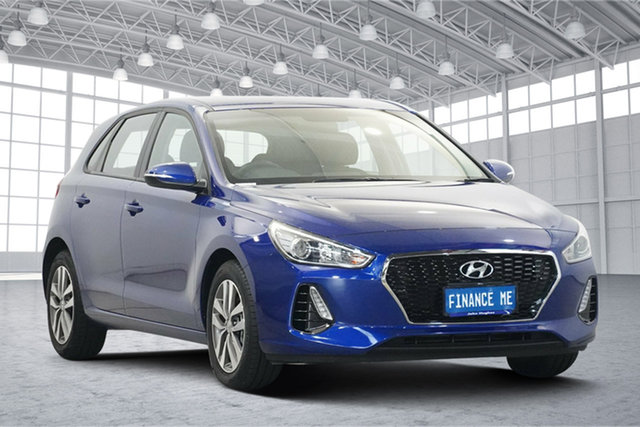 Used Hyundai i30 PD2 MY19 Active Victoria Park, 2019 Hyundai i30 PD2 MY19 Active Blue 6 Speed Sports Automatic Hatchback
