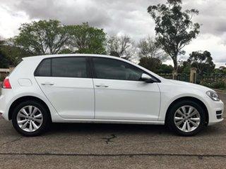 2013 Volkswagen Golf 90TSI  Comfortline White 7 Speed Automatic Hatchback.