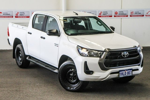 Pre-Owned Toyota Hilux GUN126R SR Double Cab Rockingham, 2020 Toyota Hilux GUN126R SR Double Cab Glacier White 6 Speed Sports Automatic Utility