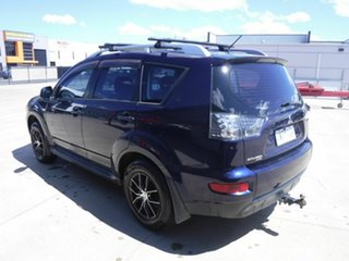 2009 Mitsubishi Outlander ZH MY10 LS Blue 6 Speed Constant Variable Wagon