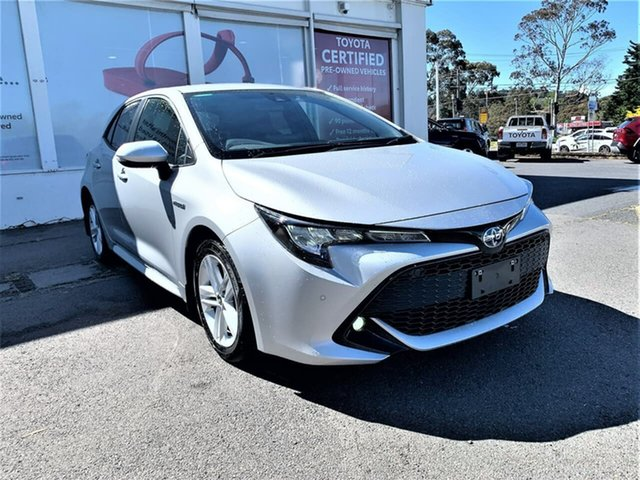 Pre-Owned Toyota Corolla ZWE211R SX E-CVT Hybrid Ferntree Gully, 2020 Toyota Corolla ZWE211R SX E-CVT Hybrid Silver Pearl 10 Speed Constant Variable Hatchback Hybrid