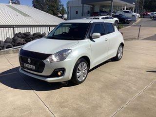 2018 Suzuki Swift AZ GL Navigator Pure White 1 Speed Constant Variable Hatchback.