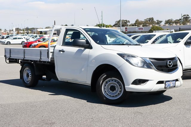 Used Mazda BT-50 UR0YE1 XT 4x2 Wangara, 2017 Mazda BT-50 UR0YE1 XT 4x2 White 6 Speed Manual Cab Chassis
